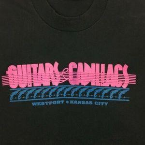 Vintage Shirts - Vintage Screen Stars Tshirt Guitars and Cadillacs